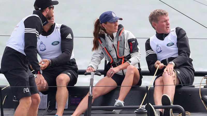 Prince William Competing against Duchess Catherine in Sailing Regatta